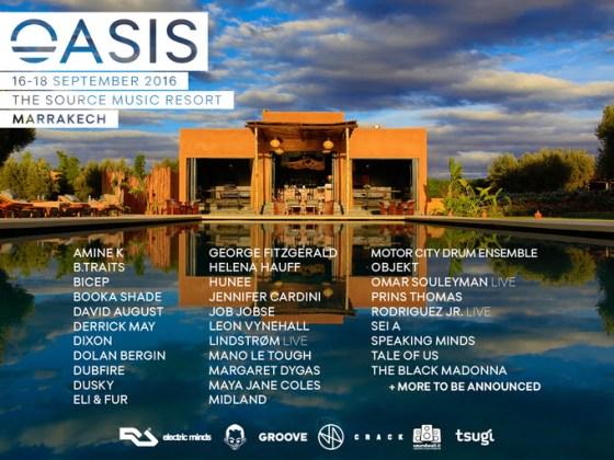 oasis festival lineup EDMred