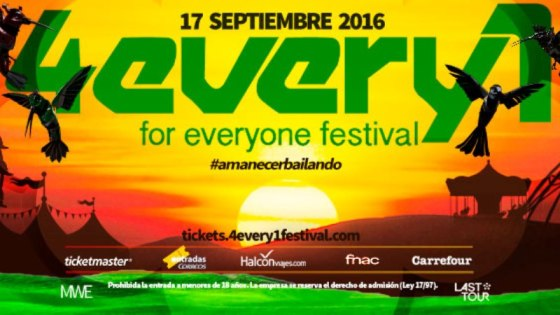 portada 4every1 festival EDMred
