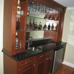 Nini Residence Basement Custom Bar Close Up
