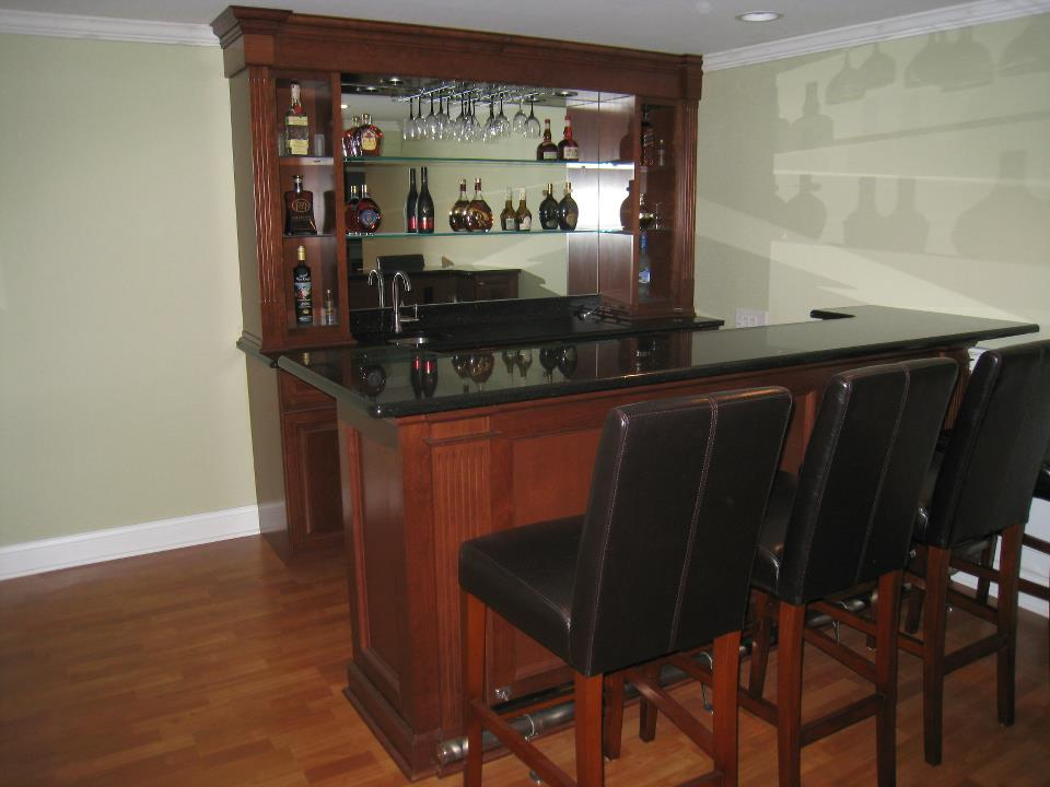 Nini Residence Basement Custom Bar