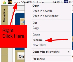 Move Bookmark in Explorer