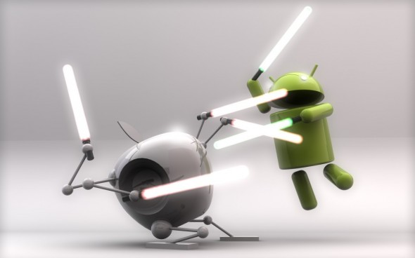 Android OS vs Apple iOS fight