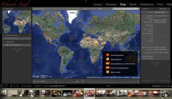 Adobe Lightroom 4 GPS Location data