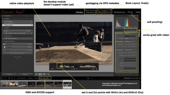 Adobe Lightroom 4 Now supports HDSLR Video
