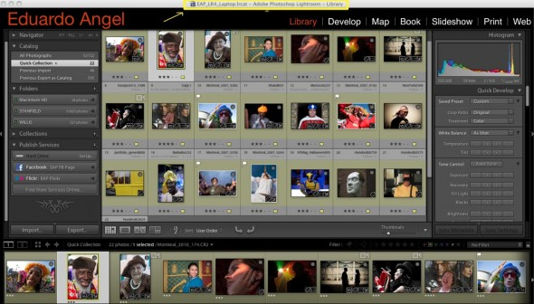 Adobe Lightroom 4 Catalog.