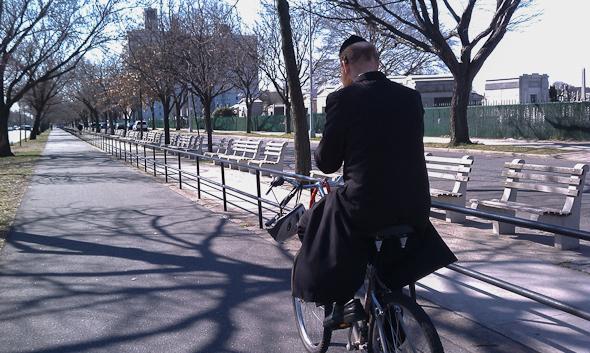 Biking in Brooklyn.