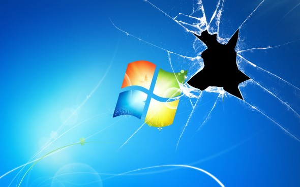 windows xp broken window