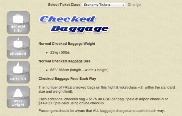 Luggage Limits - Emirates Airline Economy Tickets Flights to USA _ Canada