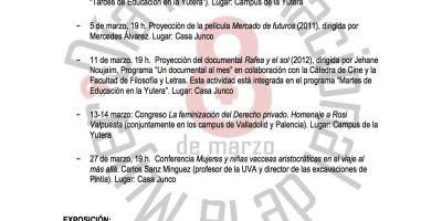 ACTIVIDADES MARZO 2014. DIA DE LA MUJER