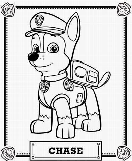 Imágenes y dibujos de paw patrol para imprimir y colorear