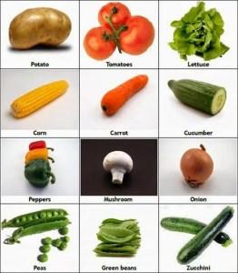 verdurasinglesnombres