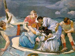 Hodler, Ferdinand_Suprised by the Storm_1887