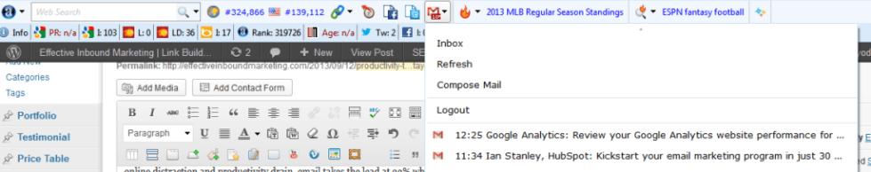 productivity tool- alexa toolbar