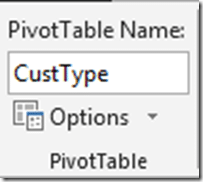 PivotTable name