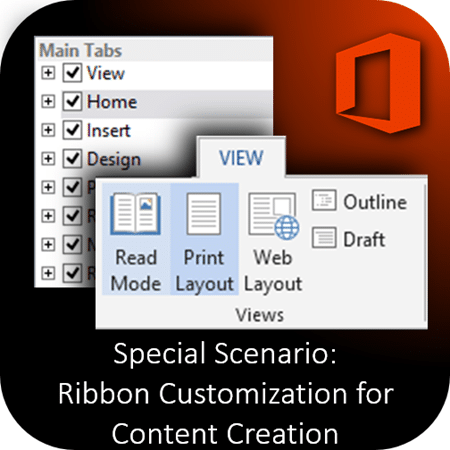customizing ribbon for content creation by Dr. Nitin Paranjape