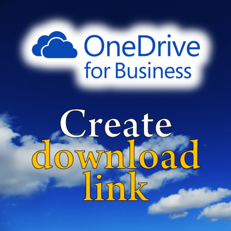create download link on OneDrive for Business