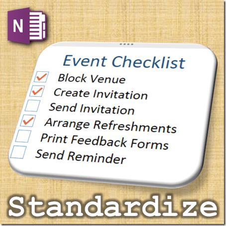 OneNote checklist