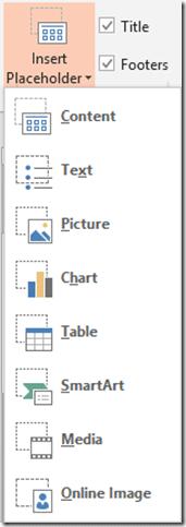 PowerPoint - Insert Placeholder