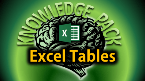Knowledge pack - excel tables