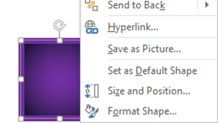 PowerPoint - Set as default shape