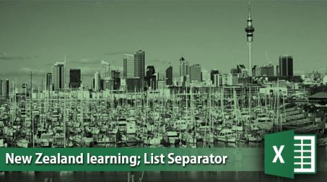 Excel List Separator
