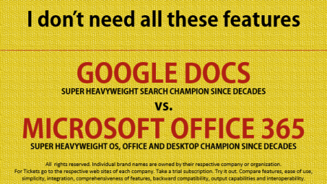 google docs vs Microsoft Office - I dont need all these features