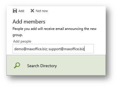 Add email ids of internal as well as external parties to the Group