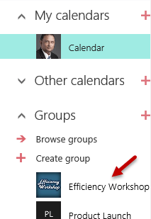 Where to find Group Calendars in Outlook Web Access