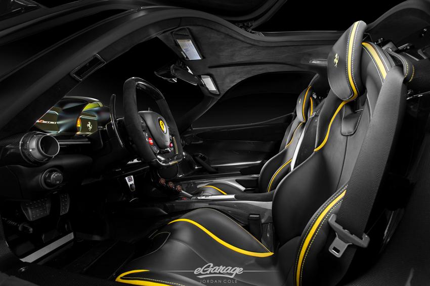 Yellow Ferrari LaFerrari Interior  K