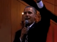 President Obama Sings Sweet Home Chicago