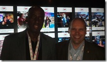 Egberto & CJ Farley At CNN Grill
