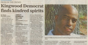 Kingwood Area Democrat Egberto Willies Featured In Houston Chronicle