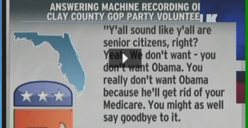 Florida Republican Party To Elderly–Obama's Muslim & Kill Medicare – Watch Fox News (Audio)