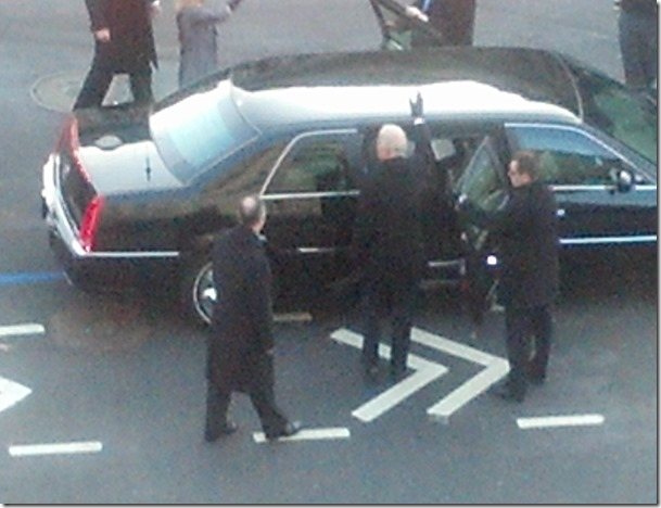Vice President Joe Biden Entering Limousine(a)