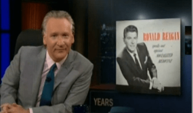Bill Maher Ronald Reagan Tea Party