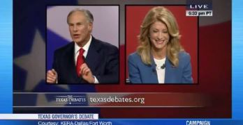 Wendy Davis slams Greg Abbott in Texas gubernatorial debate (VIDEO)
