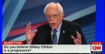 Bernie Sanders hits Hillary Clinton pretty hard on her progressive departure (VIDEO)