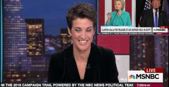 Rachel Maddow used Egyptian meeting to prove Hillary trumps Trump on strength (VIDEO)