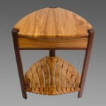 Red Elm Trillium table with slat shelf