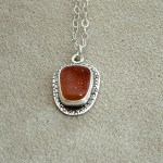 Orange-Druzy-Necklace