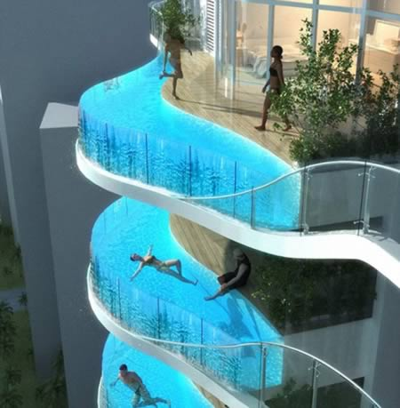 Balconul piscina