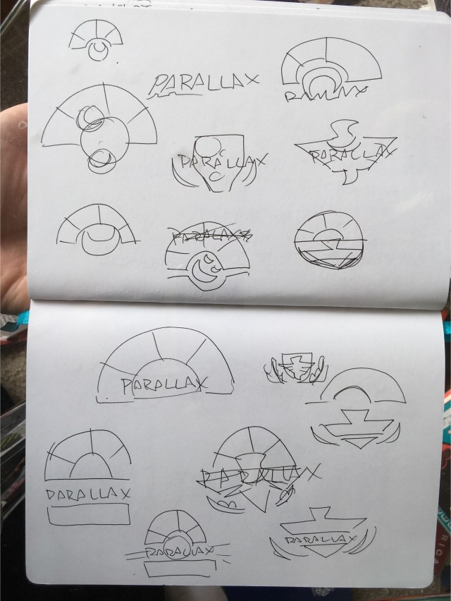 okay, logos. Starting with the stuff I doodled in the original pitch.