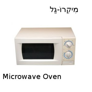 How to say microwave in Hebrew?