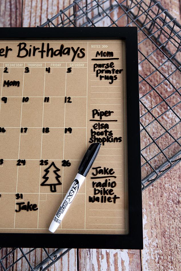 Diy Birthday Calendar : Diy dry erase birthday calendar tatertots and jello