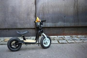 Kinderrad, Laufrad, Upcycling, DIY für Kinder, Edding Spray, Puky