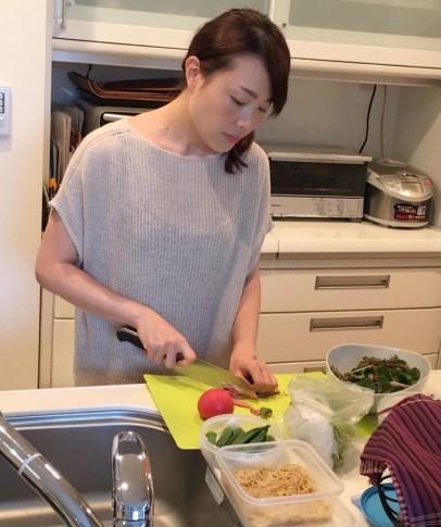 近藤純家で料理