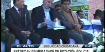 Gobierno anuncia instalación de cámaras de seguridad en El Alto
