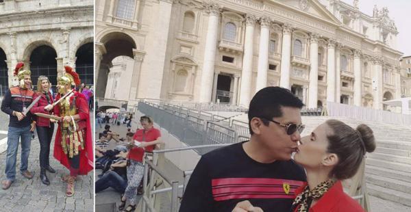 Jimena Antelo y Pomacusiirradian su amor desde Italia