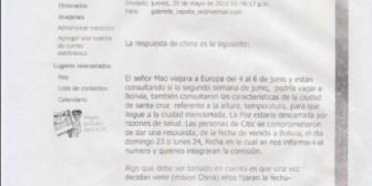 Zapata rechazó vinculaciones con Citic Group