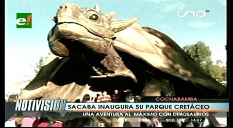 Parque de dinosaurios busca incrementar el turismo en Sacaba